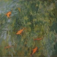 la-fontana-con-i-pesci-rossi-1986-cm-65x70